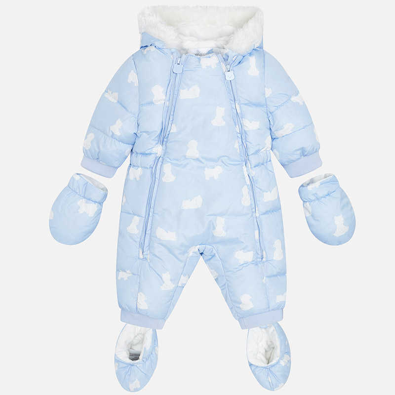9c6f510eba36 Mayoral Baby Boy Pale Blue Snow Suit 2614.27 - Mother and Child